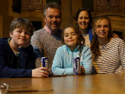 Tim Vickers and family 2017 -